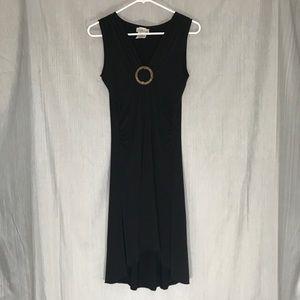 Speechless Black Sleeveless High Low Dress